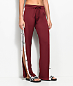 Love, Fire Burgundy Snap Side Track Pants