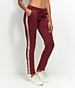 Love, Fire pantalones deportivos en rosa y color vino
