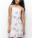 Lunachix Amelia vestido blanco y floral a rayas