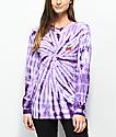 Lunachix Cherry Purple Tie Dye Long Sleeve T-Shirt