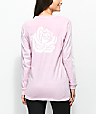 Lunachix Rose Sleeve Hit camiseta rosa de manga larga