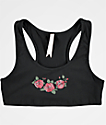 Lunachix Roses Black Sports Bra