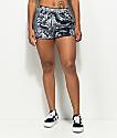 Lunachix Slate Crushed Velvet Shorts