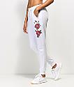 Lunachix White Rose Side Jogger Sweatpants