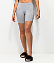 Lunachix shorts grises con cinta decorativa