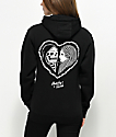 Lurking Class By Sketchy Tank Heart Black Hoodie