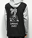 Lurking Class By Sketchy Tank Lurking Class Black & Grey Vested 2fer Hoodie