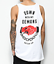 Lurking Class By Sketchy Tank Redrum Down With My Demons White Tank Top
