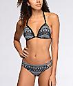 Malibu Alien Aztec bottom de bikini en blanco y negro