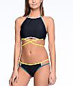Malibu Colorblock bottom de bikini en colores morado y amarillo