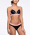 Malibu Colorblock bottom de bikini en rosa y gris