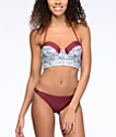 Malibu Gypsy Queen Burgundy Hipster Bikini Bottom
