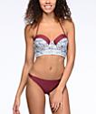 Malibu Gypsy Queen bottom de bikini en color vino