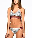 Malibu Gypsy Queen bottom de bikini en colores gris y vino