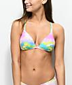 Malibu Multi Tie Dye Molded Bikini Top