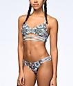 Malibu Star Gazer bottom de bikini cheeky en azul claro