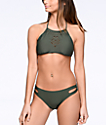 Malibu Surfs Up Side Cut Olive Hipster Bikini Bottom