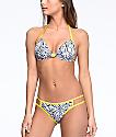 Malibu The Dive Grey Tie Dye Hipster Bikini Bottom