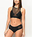 Malibu Way Out Black Mesh Hipster Bikini Bottom