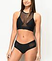 Malibu Way Out braguitas de bikini de malla negra