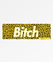 Married To The Mob B*tch pegatina de leopardo amarillo