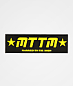 Married To The Mob Black & Yellow Sticker
