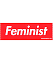 Married To The Mob Feminist Red Box pegatina