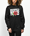 Married To The Mob Rose Black Long Sleeve T-Shirt