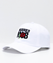 Married To The Mob Rose Logo White Strapback Hat