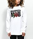 Married To The Mob Rose camiseta blanca de manga larga