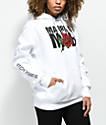 Married To The Mob Rose sudadera blanca con capucha