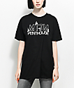 Married To The Mob x Penthouse Dancer Logo camiseta negra