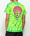 Mars Attacks x Santa Cruz Face Green & Yellow Tie Dye T-Shirt