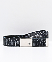 Marshin Black Printed Web Belt