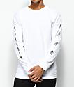 Marshin Vertically Type camiseta blanca de manga larga
