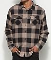 Matix Redding Khaki & Black Button Up Flannel Shirt