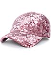 Mauve Crushed Velvet Baseball Hat