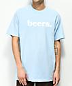 Meet Here For Beers Logo camiseta azul