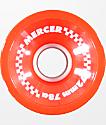 Mercer 72mm 78a Red Longboard Wheels