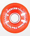 Mercer 72mm 78a ruedas de longboard color rojo