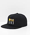 Meridian Skateboards 93 Black Snapback Hat