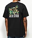 Meridian Skateboards Camo Rose Black T-Shirt