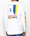 Meridian Skateboards Flagged White Long Sleeve T-Shirt