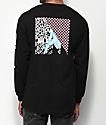 Meridian Skateboards Leg Check Black Long Sleeve