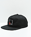 Meridian Skateboards Rose Box Logo Black Snapback Hat