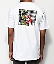 Meridian Skateboards Rose Camo White T-Shirt