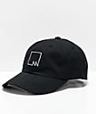 Meridian Skateboards Squared Outline Black Strapback Hat