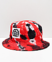 Milkcrate Chi Tie Dye Red, Black & White Bucket Hat