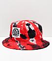 Milkcrate Chi sombrero de cubo rojo, negro y blanco