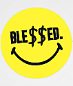 N°Hours Ble$$ed Smiley pegatina